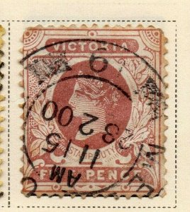 Victoria 1890-91 Early Issue Fine Used 5d. 326786