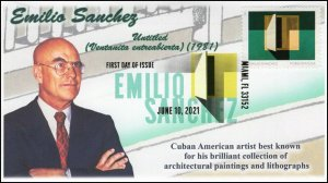 21-162, 2021, Emilio Sanchez, First Day Cover, Digital Color Postmark, Untitled,
