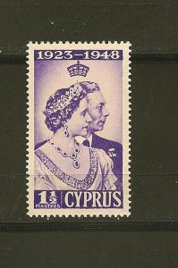 Cyprus 158 Silver Wedding 1948 Mint Hinged