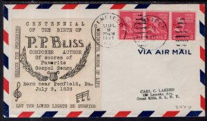 US Music Centennial Birth of P P Bliss 1938 Cover