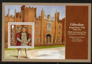 Gibraltar MH S/S King Henry VIII 2009