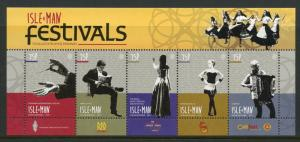 Isle of Man IOM 2017 MNH Manx Festivals 5v M/S Music Dance Literature Stamps