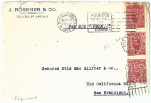 69270 - HONDURAS - POSTAL HISTORY -  COVER to USA postmark on ARRIVAL! 1922