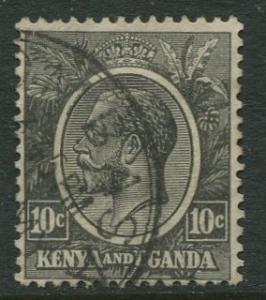 Kenya & Uganda - Scott 22 - KGV Definitive -1922 - Used- Single 10c Stamp
