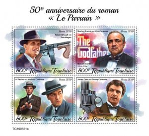 """Stamps TOGO 05 11 2019 Код: TG190544a-TG190564b.Book """"The Godfather"""""""
