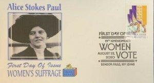 AFDCS 5523 Women's Suffrage Alice Stokes Paul Seneca Falls, Ny