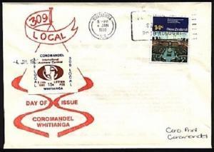 NEW ZEALAND 1980 Coromandel Axeman Carnival cinderella on cover............95634