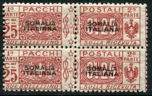 SOMALIA # Q4 Average Never Hinged Block of 4 Issues - PARCEL POST STAMPS - S6025