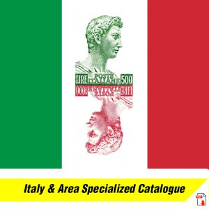 SPECIALIZED CATALOGUE ITALIAN STATES, KINGDOM, REP & AREA STAMPS (1900+ PDF pgs)