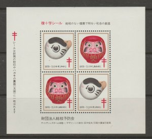Japan Cinderella seal TB Charity revenue stamp 5-03-30 mint