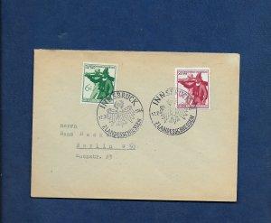 GERMANY 1944 TYROL COVER Innsbruck cancel