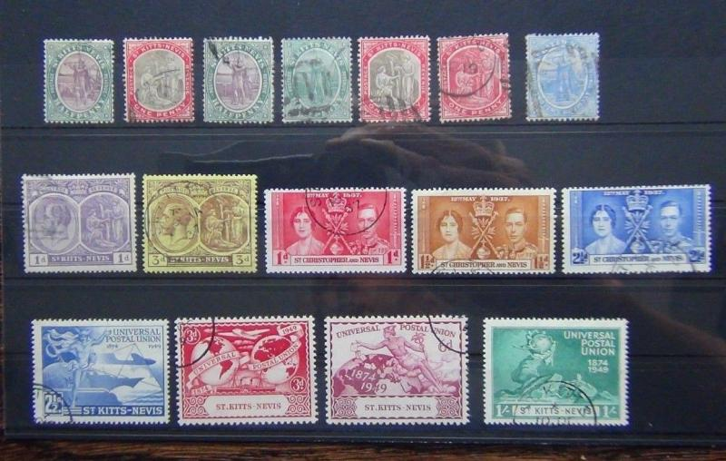 St Lucia 1953 - 1963 set to $2.50 SG 172 SG184 Used
