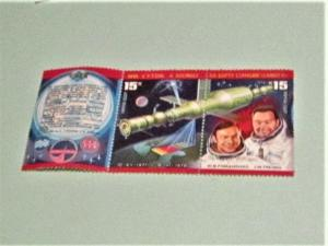 Russia - 4663-64, MNH Set; Strip of 2 w. Label. Space Docking. SCV - $.80