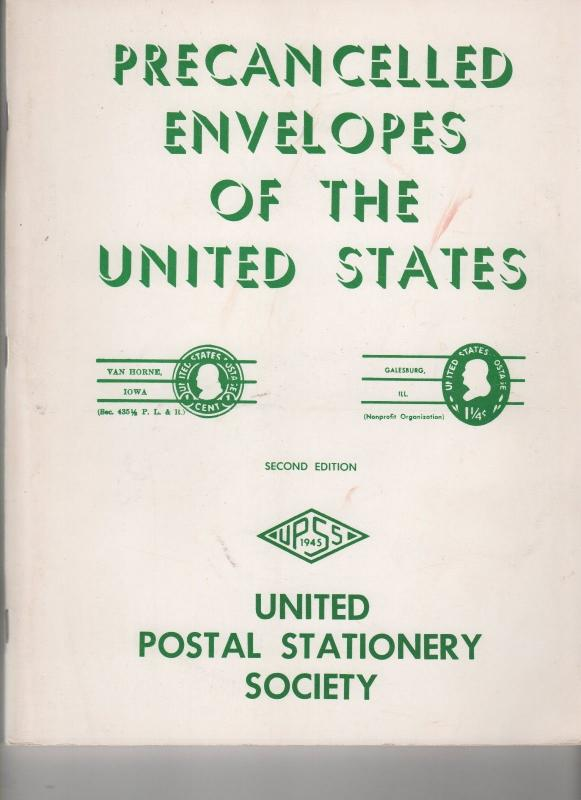 USA STAMPS 1981 UPSS guide to PRECANCELLED ENVELOPES 281 0418
