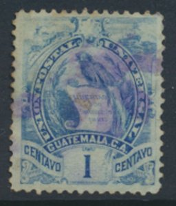 Guatemala    SG 31 SC# 31   Used thin    1886  see scans