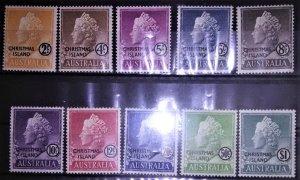 Christmas Is #1-10 Aust Queen Elizabeth ovpt mlh