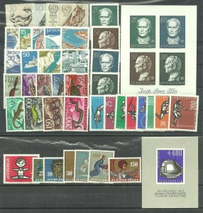 YUGOSLAVIA  1962  (Michel #990/1031), complete year collection MNH
