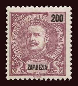 ZAMBEZIA Scott #31 1898 King Carlos unused tiny HR