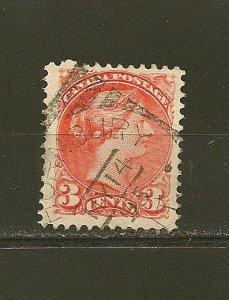 Canada 37 Queen Victoria Used