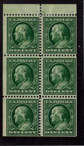 331a Mint,OG,LH... Booklet Pane... SCV $150.00