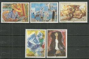 Yugoslavia MNH 1516-20 Art Paintings 1980