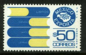 MEXICO Exporta 1133 $50P Books Fluor Paper 8 MINT, NH. VF.