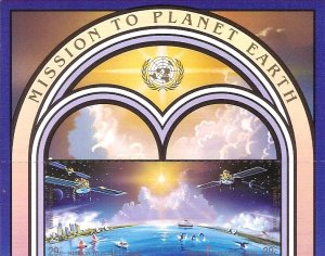1992 United Nations NY Mission to Planet Terra SC# 609-610 Top Mint