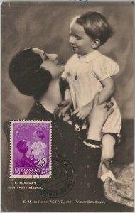 56995 - BELGIUM - POSTAL HISTORY: MAXIMUM CARD 1937 - ROYALTY