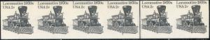 #1897Ac LOCOMOTIIVE IMPERF STR/6 W/ PLATE NO. 3 MAJOR ERROR CV $200.00 BN8434