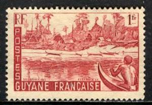 French Guiana 1947: Sc. # 196; */MH Single Stamp