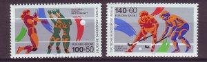 J24998 JLstamps 1989 germany berlin set mnh #9nb266-7 sports