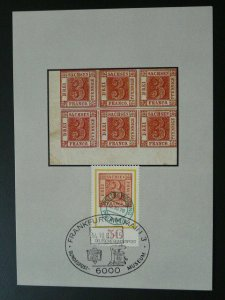 stamp on stamp Sachsen early stamps philately maximum card Germany 1982