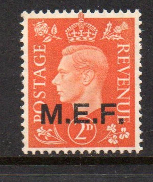 Great Britain M E F Sc 2 1942 2d G VI stamp mint NH