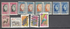 COLLECTION LOT # 2895 SOUTH AFRICA 13 STAMPS1937+ CV+$11