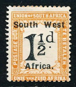 South West Africa #J23a Single MH