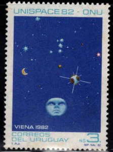 Uruguay Scott 1124 MNH** Peaceful uses of Outer Space stamp