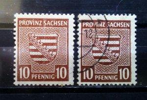 Germany Provinz Sachsen 78Xa + 78Xb