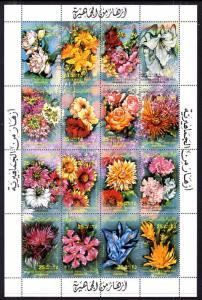 Libya 1052 Flowers Souvenir Sheet MNH VF