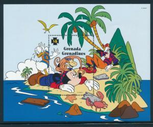 Disney Grenada Grenadines - MNH Souvenir Sheet Mickey's Island #1770 (1995)