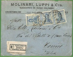 98711 - ARGENTINA - POSTAL HISTORY - Registered Advertising COVER to ITALY  1922