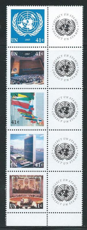 United Nations 934-8 2007 Personalized Strip MNH