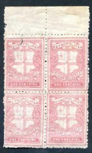 CD38 1/4d Rose Carmine Metropolitan Circular Delivery MFT Error on 1 Stamp U/M