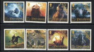 Isle of Man Sc 1013-0 2003 Lord of the Rings stamp set mint NH