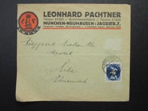 Germany 1921 Illustrated Commercial Cover / Light Fold & Corner Crease - Z6872
