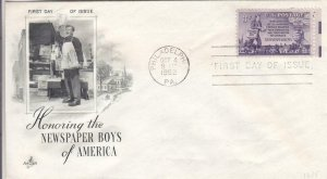 1952, Honoring Newspaper Boys of America, Artcraft, FDC (D13076)