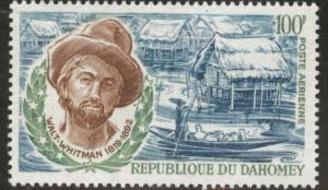 Dahomey Scott C119 MNH** 1970 Walt Whitman stamp