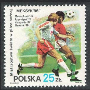 Poland World Cup Football Championship Mexico SG#3041 SC#2735