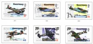 Guernsey Sc 713-8 2000 Battle of Britain stamp set used
