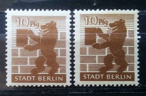 Gemany Allied Occupation Berlin Mi 4 Shades