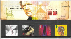 Great Britain  #1839-1842 Inventor's Tale (MNH) Royal Mail set January 1999